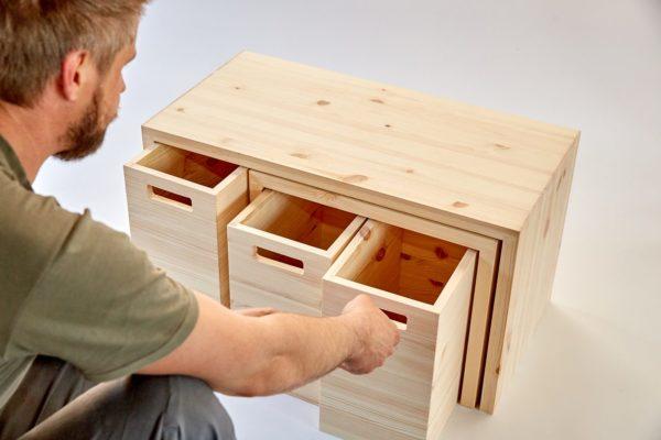 MULTI-PRAKTISCH - Multifunktionsmöbel aus Holz für kleine Räume 1
