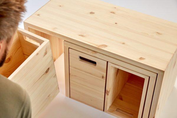 MULTI-PRAKTISCH - Multifunktionsmöbel aus Holz für kleine Räume 3