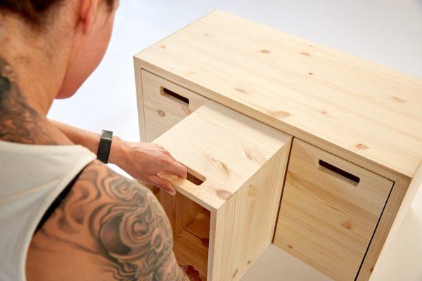 MULTI-ORDENTLICH - Multifunktionsmöbel aus Holz zur Aufbewahrung 7
