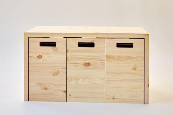 MULTI-ORDENTLICH - Multifunktionsmöbel aus Holz zur Aufbewahrung 1