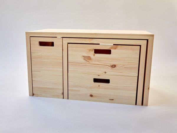 MULTI-FLEXIBEL - Multifunktionale Möbel aus Holz für das Home Office 1