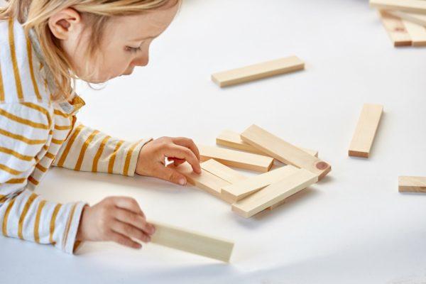 Bausteine aus Holz Holzspielzeug Montessori Kreativität Kapla